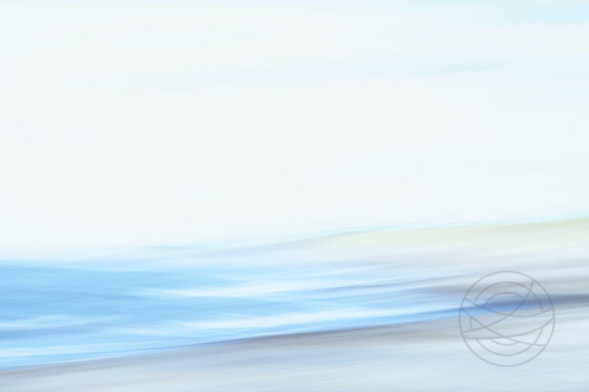 Shattered Blue - Abstract realistic fine art seascape photography by Jacob Berghoef