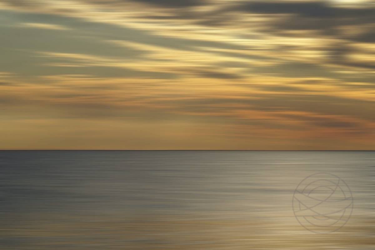 Winter Sunset (3) - Abstract realistic fine art seascape photography by Jacob Berghoef