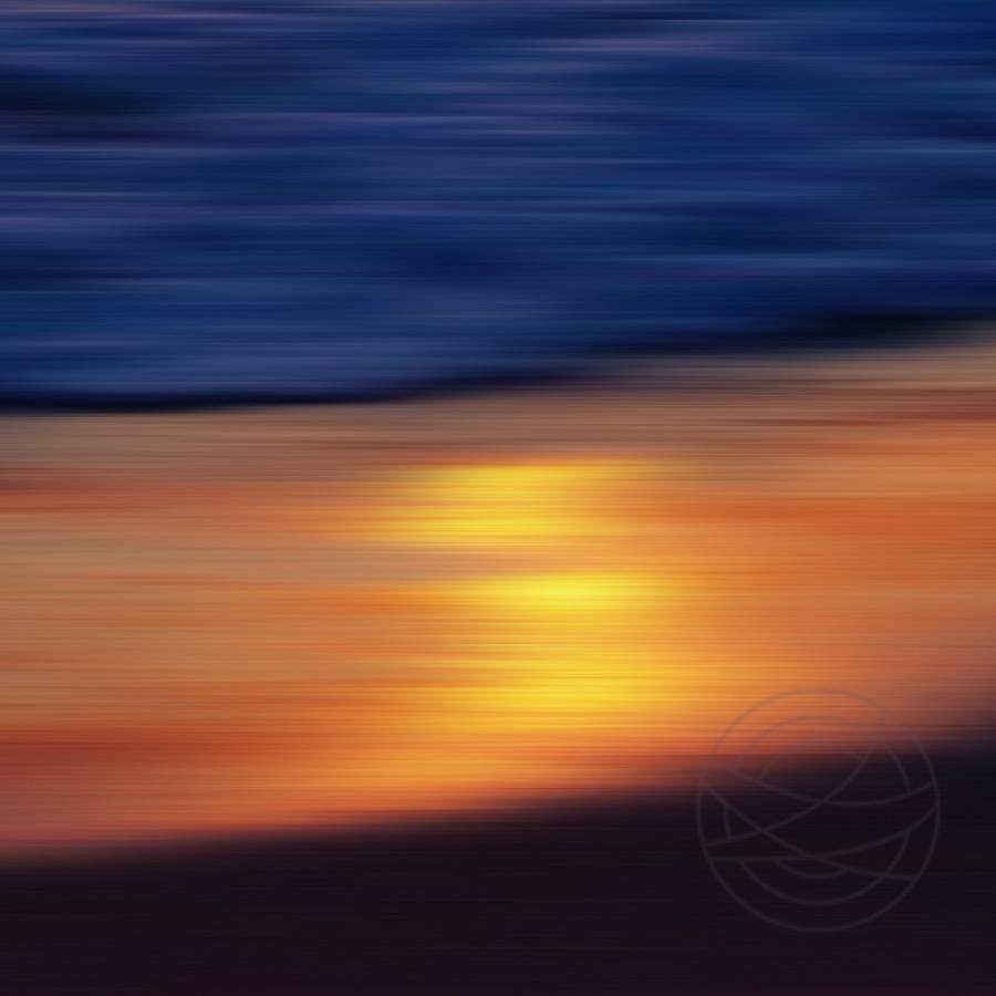 Colourful Sunset - The late sun on the surf often gives an even more special color palette than in the sky... - Modern impressionistic fine art seascape photography by Jacob Berghoef
