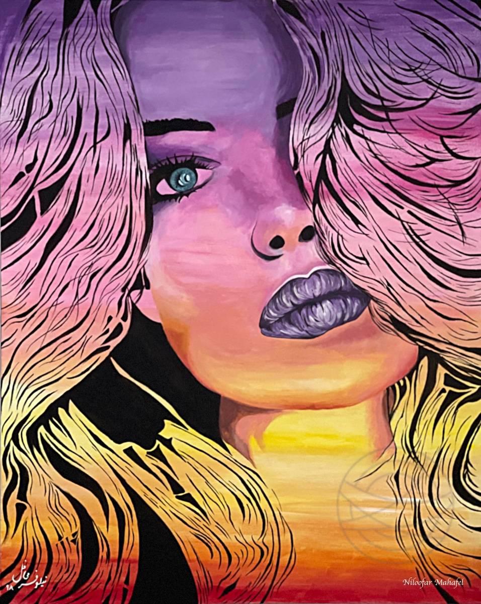 Niloofar Mahafel - Sunset Woman