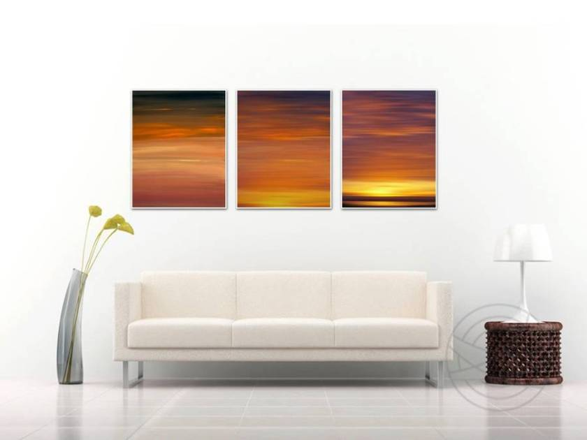 Burning Sunset - Abstract fine art by Karina Mosser and Jacob Berghoef