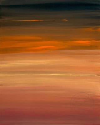 Burning Sunset - Part 1, painting by Karina - Abstract fine art by Karina Mosser and Jacob Berghoef