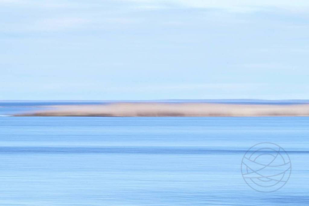 An Island - A small island of reed and grass in a wintery cold Baltic Sea, coast of Sweden - Abstract realistic fine art seascape photography by Jacob Berghoef