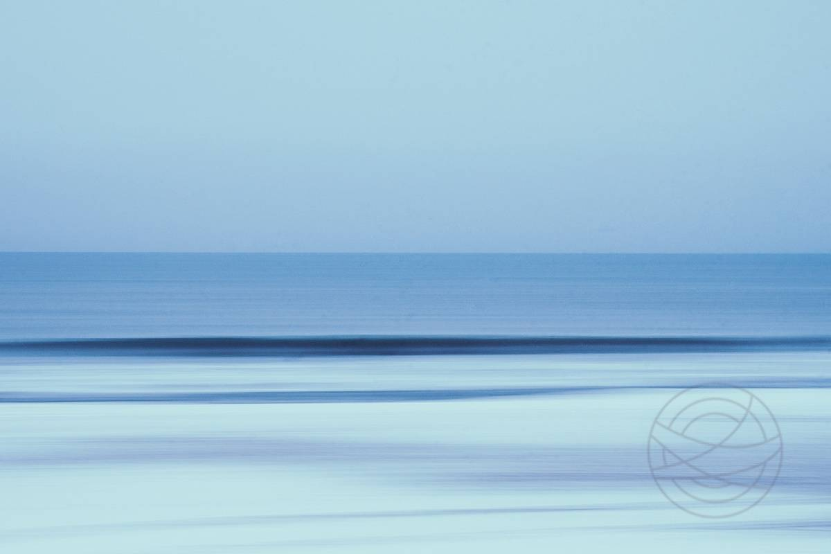 The Silk Sea - early morning at the beach, looking at a calm sea - Abstract realistic fine art seascape photography by Jacob Berghoef
