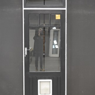 Wooden Exterior Door With Top Light