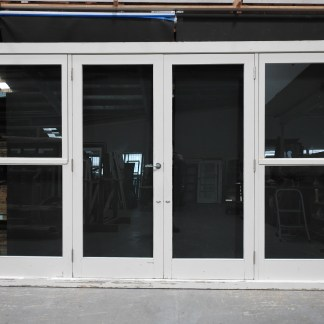 Wooden French Doors With Tinted Safety Glass & Sidelights