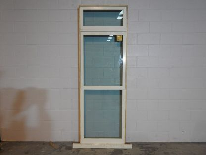 wooden double awning window with tinted safety glass