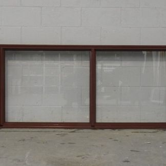Pioneer red aluminium awning landscape window