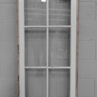 colonial style wooden casement portrait window