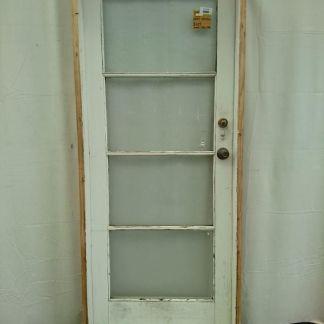 Wooden pre-hung exterior door