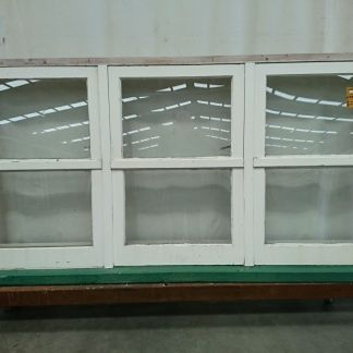 Wooden triple awning window