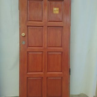 Wooden hardwood exterior door
