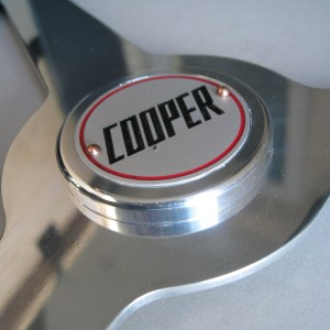 John Cooper Steering Wheel Badge, Cooper Racing Car Badge