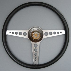 Jaguar E Type Leather Steering Wheel, Jaguar LWE Steering wheel, Competition e-type leather steering wheel