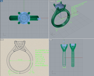 custom engagement ring CAD design