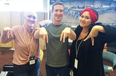 Abby Asistio Meets Facebook's Mark Zuckerberg