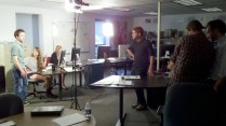 On set with Above the Fold