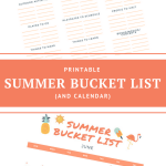 Summer Bucket List Template And Calendar Jac Of All Things