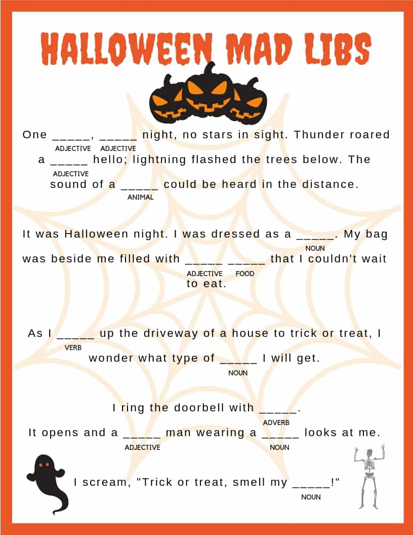 These Halloween Mad Libs are so fun for kids to do! Download your free printable mad libs for kids to enjoy!