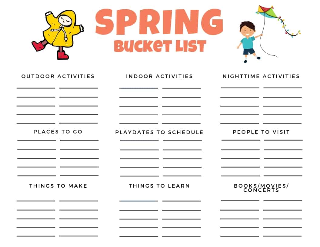 Spring Bucket List Fun Ideas And Activities To Do In The