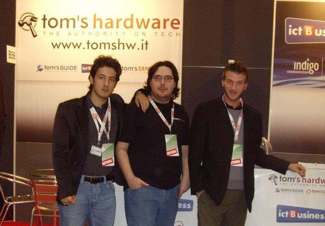 Jacopo Conte, Bruno Gulotta e Andrea Giuglielmo alla SMAU ai tempi di Dark-Net