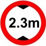 2,3m Zeichen