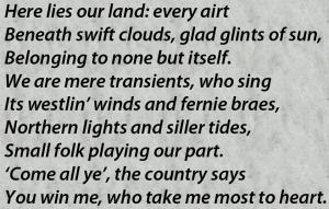 Bannockburn poem