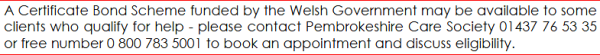 Pembrokeshire bond scheme