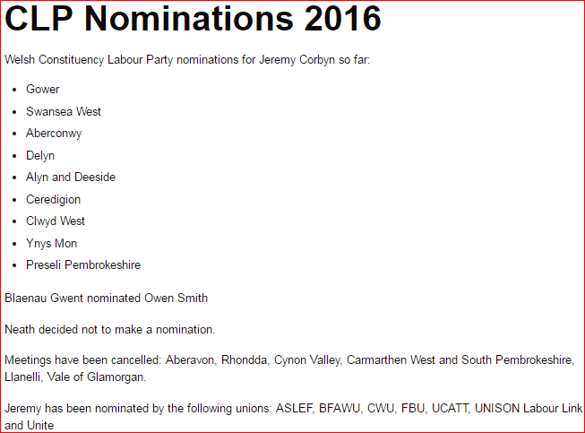 WLG Nominations