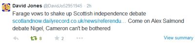 Farage Salmond Tweet