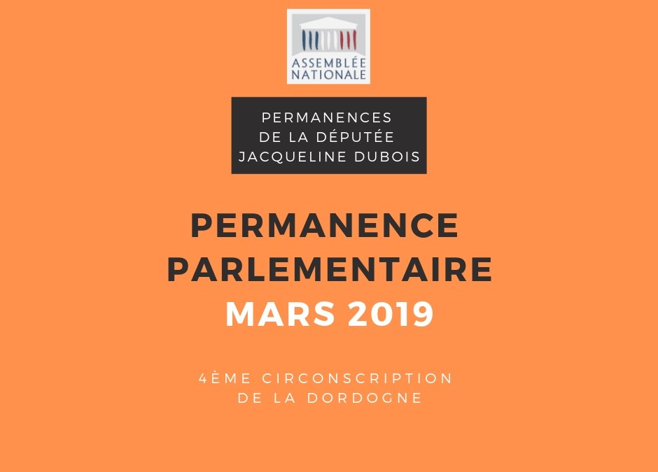 Permanences parlementaires mars 2019