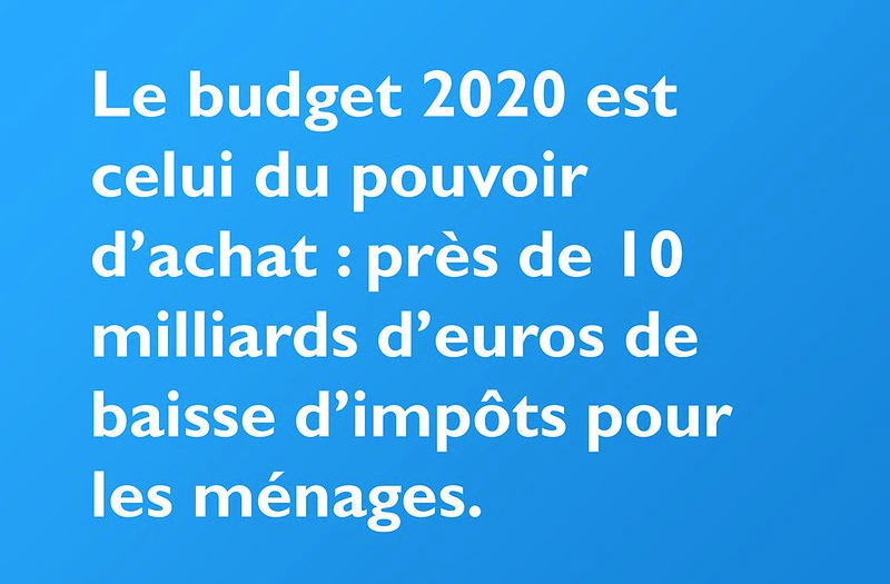 Principales mesures de loi de finances 2020