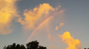Rainbow clouds 2