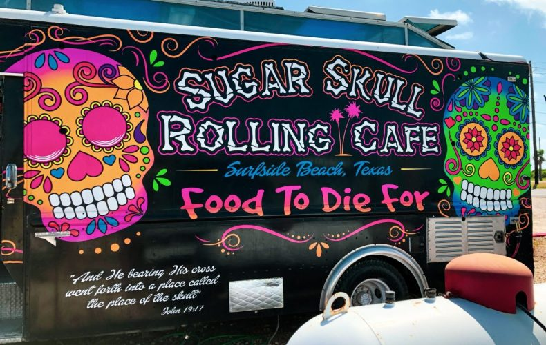 Sugar Skull Rolling Cafe in Surfside Beach