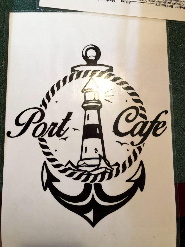 The Port Cafe menu cover