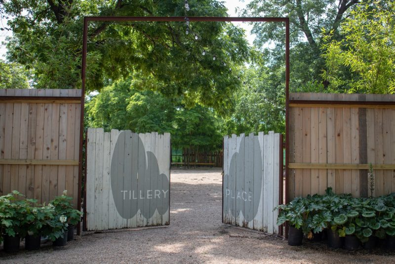 Tillery Place event venue behind Tillery Street Plant Co. in Austin, Texas.