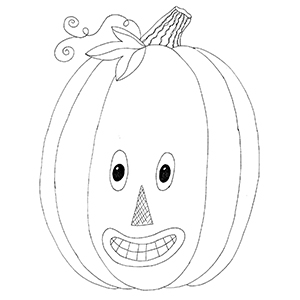 Friendly Jack o lantern free pattern