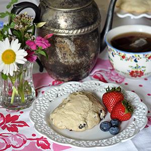 Blueberry Tea Scones Honey Butter Recipe Jacquelynne Steves