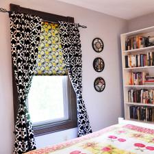 Fabric covered window shade tutorial