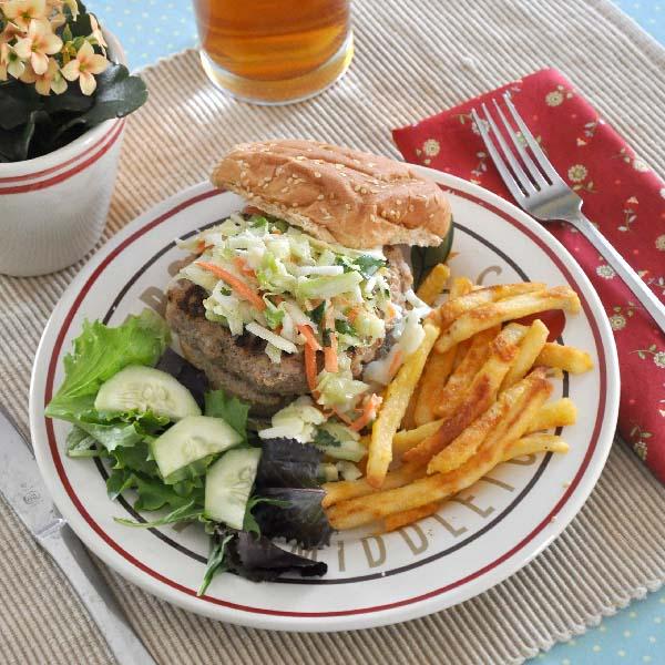 Asian Turkey Burger with Slaw Recipe- Jacquelynne Steves 2