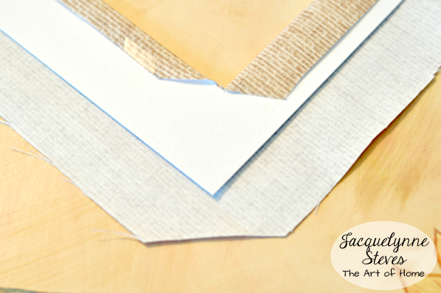 Fabric Covered Photo Mat Tutorial 5-JacquelynneSteves