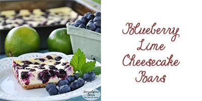 Blueberry Lime Cheesecake Bars- Jacquelynne Steves