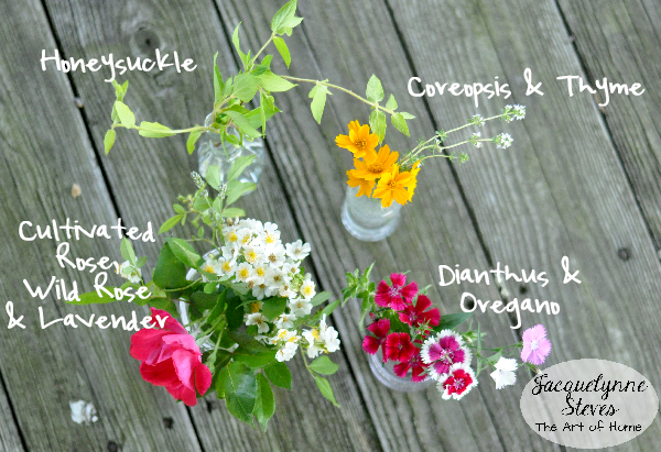 Small Flower & Herb Arrangements from the yard- Jacquelynne Steves