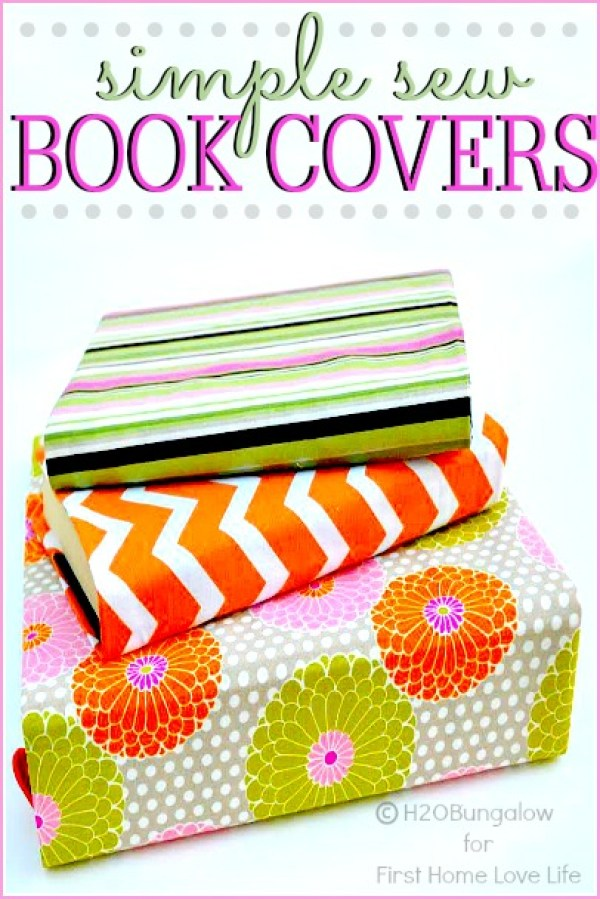 Book Cover Sewing Guide : Cute back to school sewing and craft projects