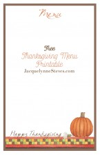 Free Thanksgiving Menu Printable_ Jacquelynne Steves