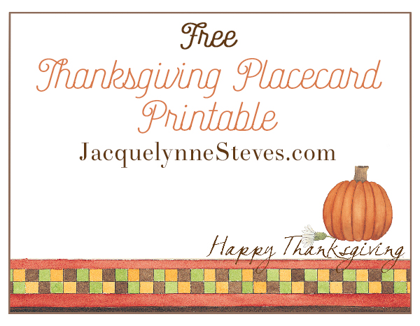 Free printable thanksgiving menu and place cards m4hsunfo