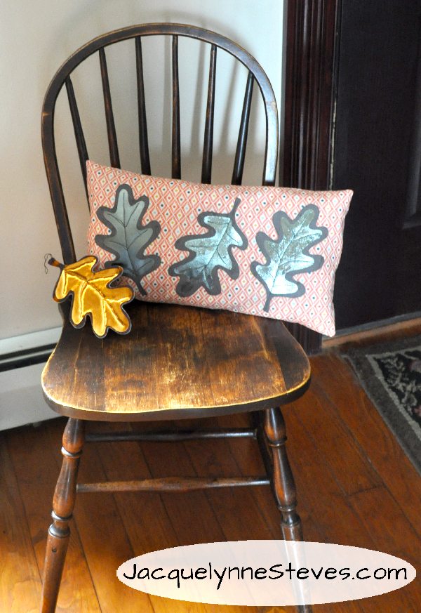 Fall Foil Leaf Pillow Amp Ornament Tutorial Jacquelynne Steves