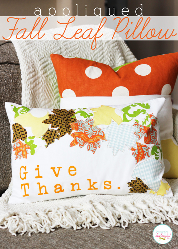 Appliqued Fall Leaf Pillow - free pattern