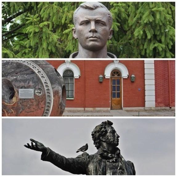 Saint-Pétersbourg ville de pouvoir. Ses héros Gagarine et Pouchkine