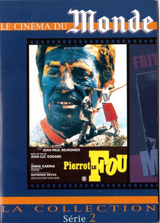 Pierrot le fou - film de Jean Luc Godard - c'est la pochette du DVD